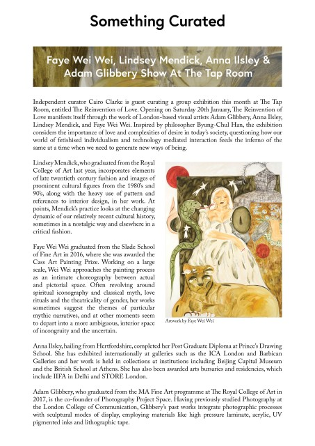 Faye Wei Wei, Lindsey Mendick, Anna Ilsley & Adam Glibbery Show At The Tap Room