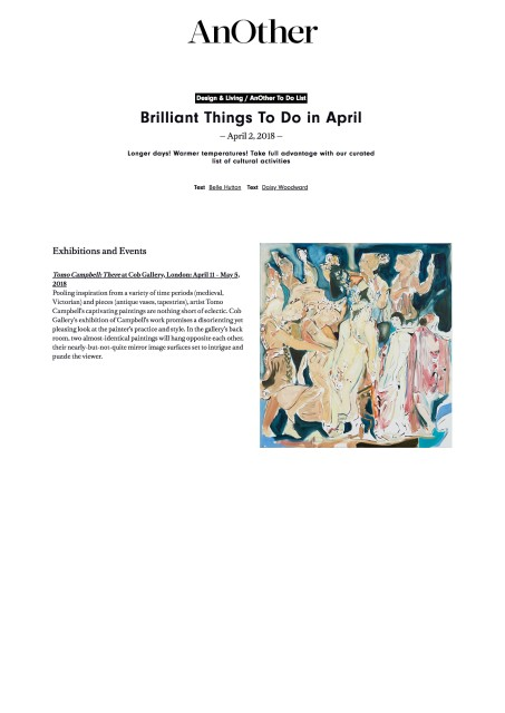 Brilliant Things To Do in April