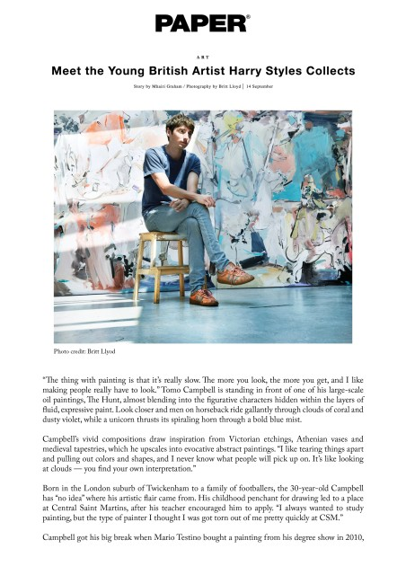 Tomo Campbell: Meet the Young British Artist
