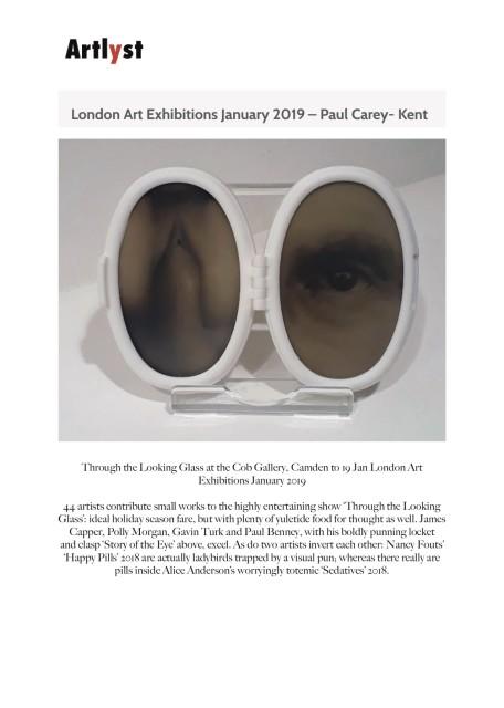 London Art Exhibitions January 2019 – Paul Carey- Kent