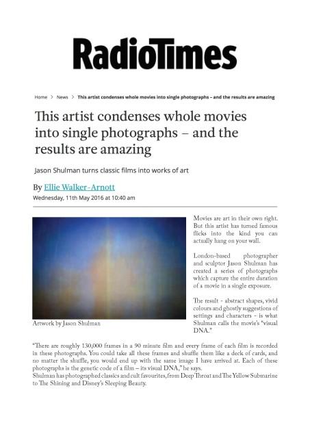 Jason Shulman turns classic films into works of art