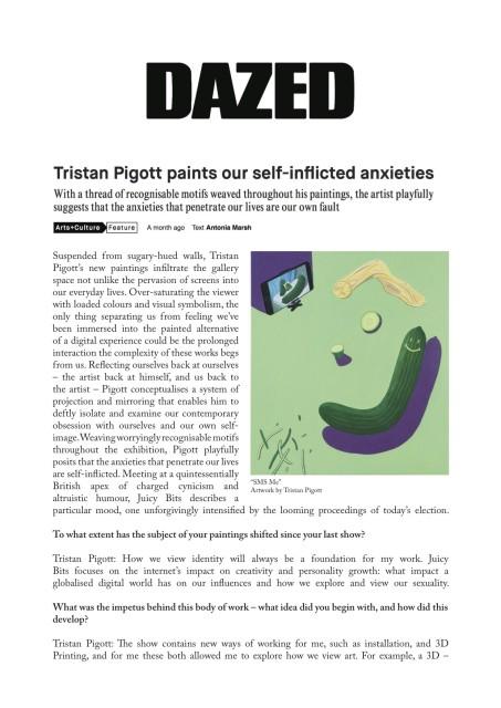 Tristan Pigott paints our self-inflicted anxieties