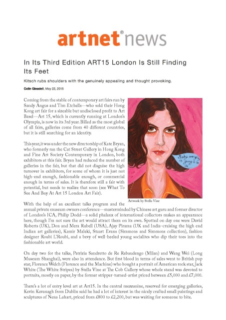 In Its Third Edition ART15 London Is Still Finding Its Feet