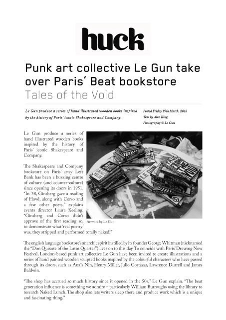 Punk art collective Le Gun take over Paris' Beat bookstore