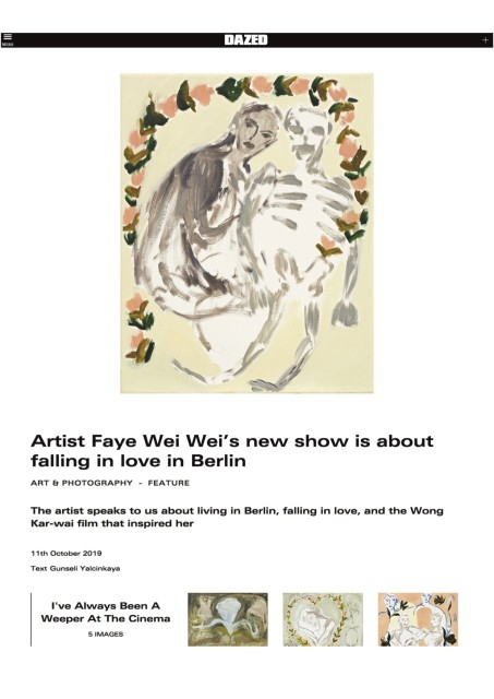 Artist Faye Wei Wei's new show is about falling in love in Berlin