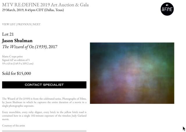 MTV RE:DEFINE 2019 Art Auction & Gala