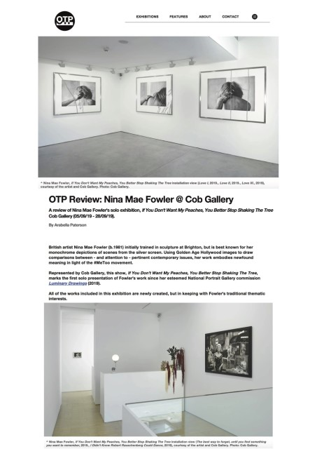 OTP Review: Nina Mae Fowler @ Cob Gallery