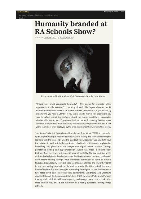 Humanity branded at RA Schools Show?
