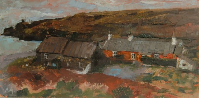 'Abereiddi' Oil on board SOLD