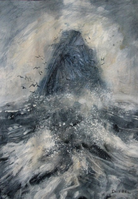 "Tidal Squall, 12"" x 8"", Acrylics with Oil Glaze, £345"