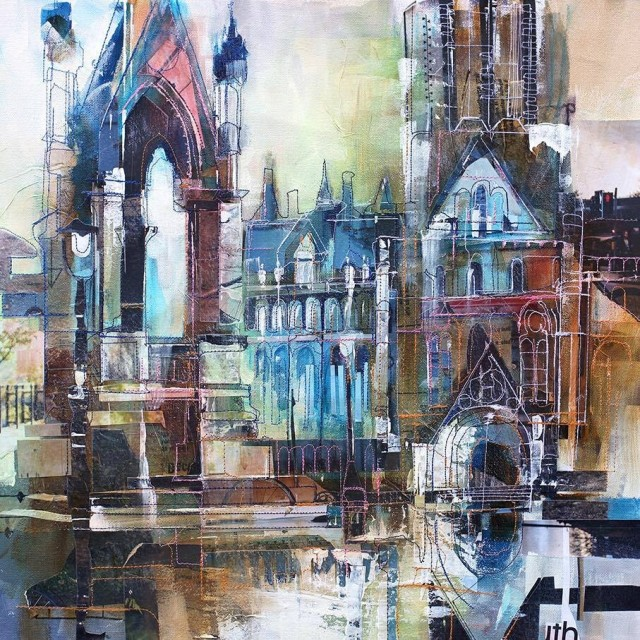 'Monument, Albert Square' - SOLD