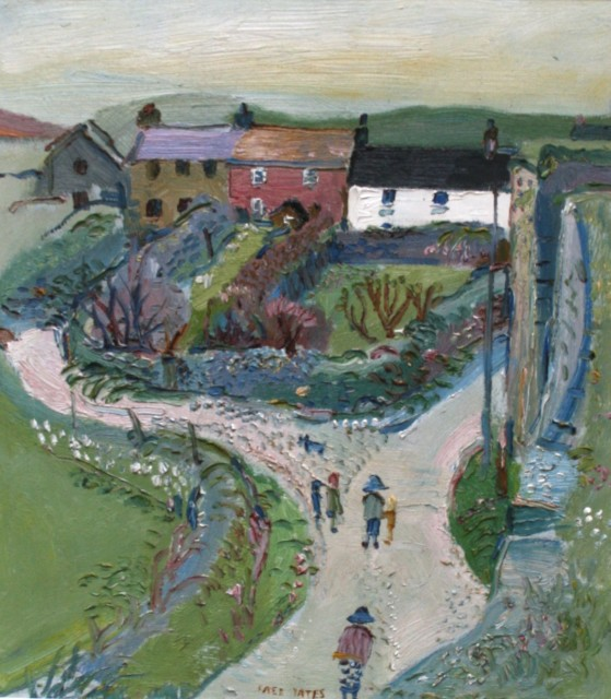 Cottages at Pendeen, 1987, Oil on board, 69 x 70 cms £ 7,500