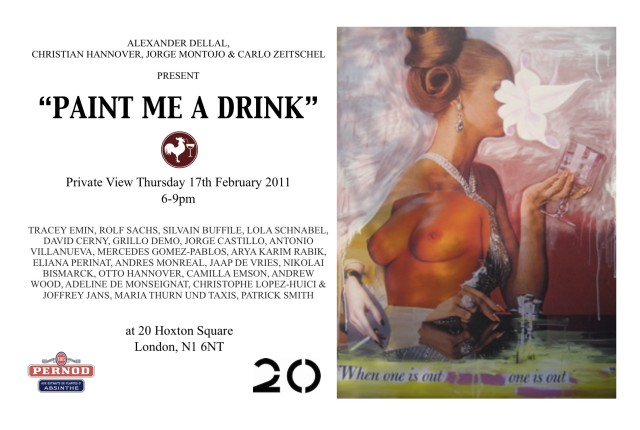 Paint Me a Drink | The Muse of Alcohol @ 20 Hoxton Square, London, Presented by Alexander Dellal, Christian Hannover,...