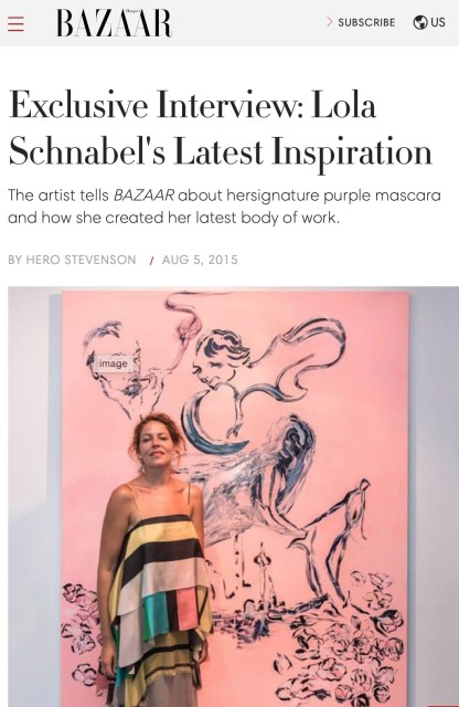 Exclusive Interview: Lola Schnabel's Latest Inspiration