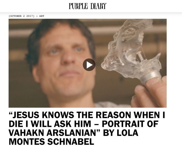 """""""JESUS KNOWS THE REASON WHEN I DIE I WILL ASK HIM – PORTRAIT OF VAHAKN ARSLANIAN"""" BY LOLA MONTES SCHNABEL"""