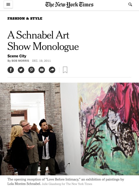 A Schnabel Art Show Monologue