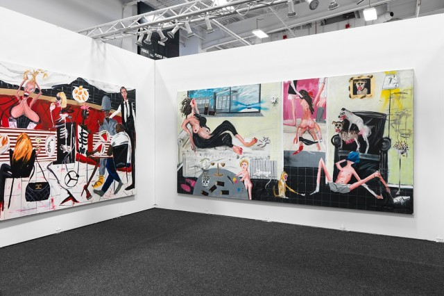 Installation view of works by Dale Lewis at Edel Assanti's booth at NADA New York, 2016