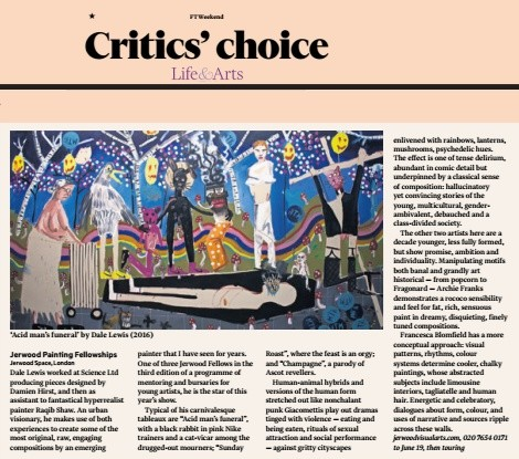 Dale Lewis critic's pick in The Financial Times