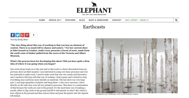Jodie Carey interview in Elephant Magazine