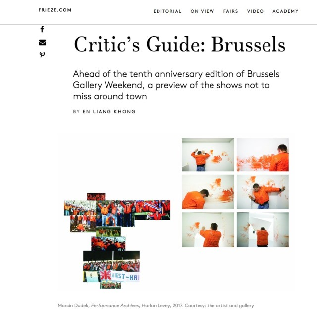 Marcin Dudek in Frieze Critic's Guide