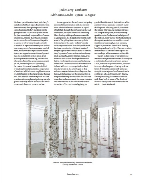 Jodie Carey in ArtReview