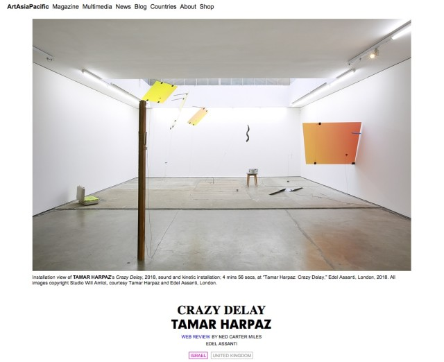 Tamar Harpaz in ArtAsiaPacific