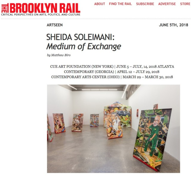 Sheida Soleimani in the Brooklyn Rail