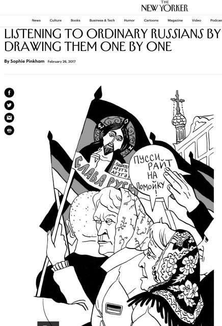 Victoria Lomasko in The New Yorker