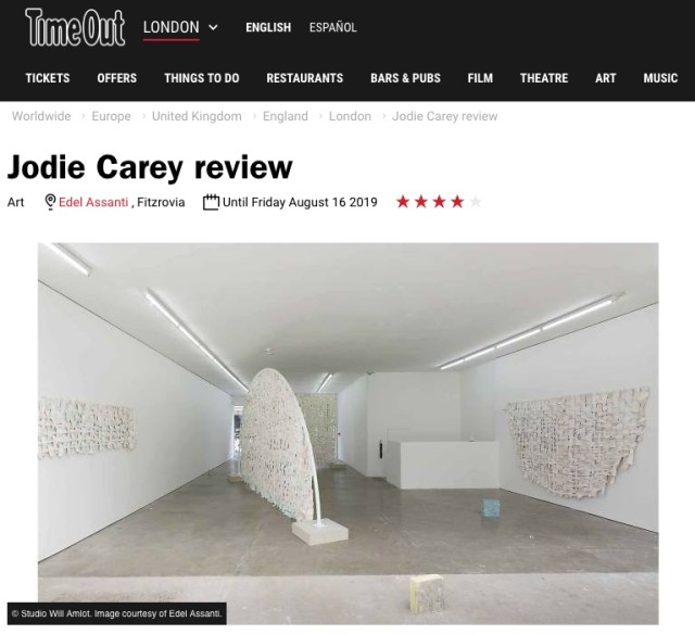 Jodie Carey in Timeout London