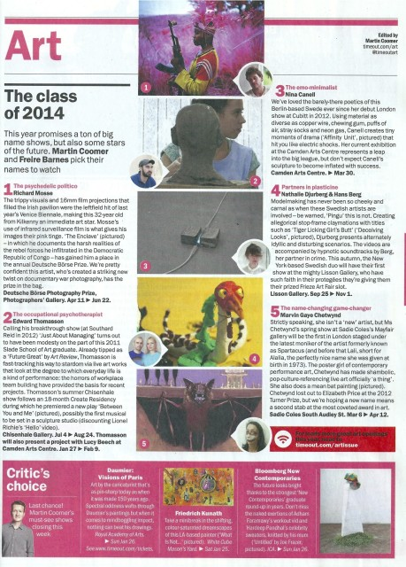 Time Out London; The Class of 2014