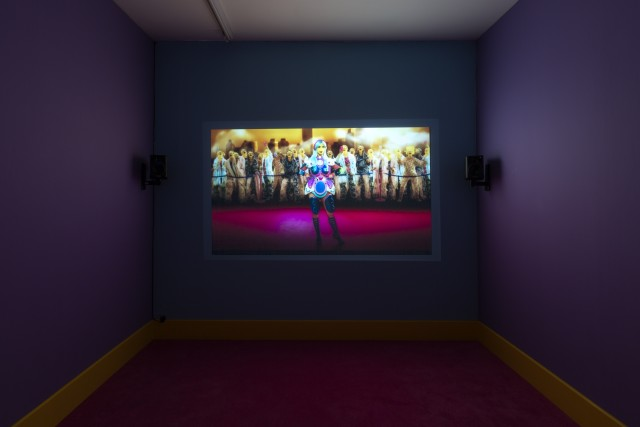 Rachel Maclean, It's What's Inside That Counts, 2016, Single screen installation, 30 minutes, Commissioned by HOME, University of Salford Art Collection, Tate, Zabludowicz Collection, Frieze Film and Channel 4 Credit : Copyright studio Will Amlot, Courtesy Edel Assanti.
