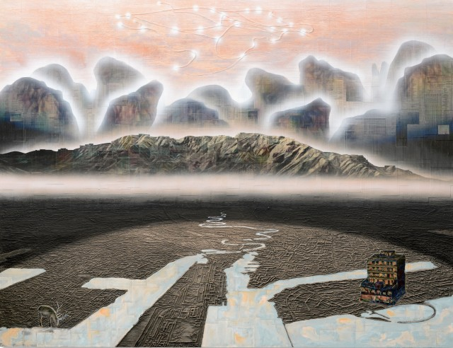 Gordon Cheung, Megalopolis, 2020, 150 x 200 cm