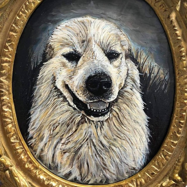 "<div class=""artist""><strong>Chaz John, </strong><em>Portrait of a Rez Dog #1</em>, 2019</div><div class=""medium""> </div>"