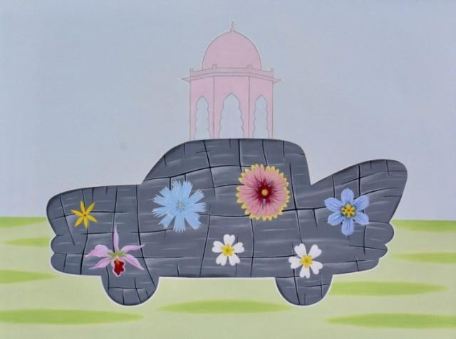 "Peter Harrington, ""Mughal Vehicle,"" 30"" x 40."""