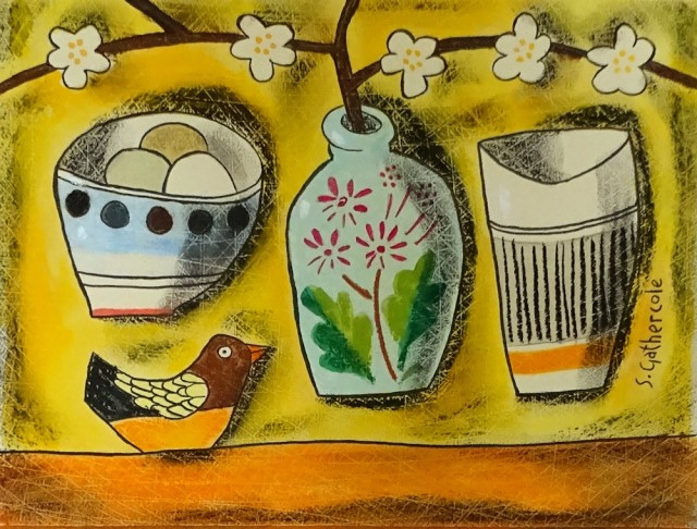 Susan Gathercole, Little French Jar and Bird