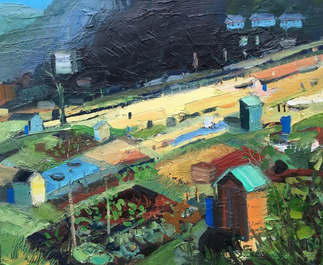 Sarah Carvell, Patch on Sunlight on the Allotments