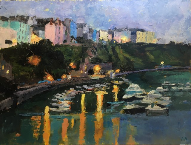 Anne Aspinall, Tenby, Harbour Lights