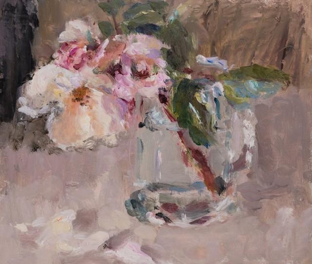 Lynne Cartlidge, Roses in a Glass Tankard