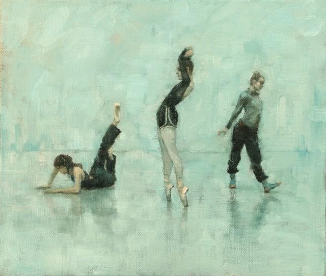 Carl Chapple, Ailysh Healy, Romy Adair, Erin Atkinson (Ballet Cymru Rehearsal 191)
