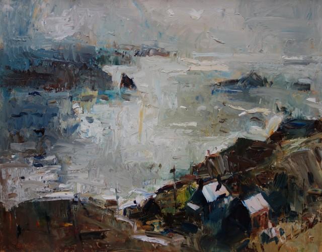 Gareth Parry, Fferm ger y Môr (Porthmedwy) / Farm by the Sea (Porthmedwy)
