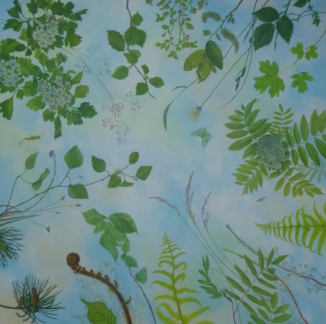 Kim Dewsbury, Leaves Brush the Descending Blue
