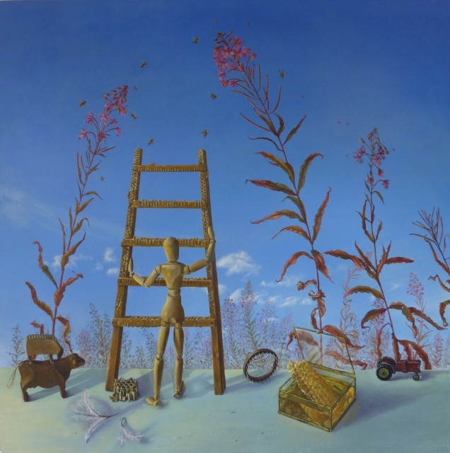 <span class=&#34;artist&#34;><strong>Kim Dewsbury</strong></span>, <span class=&#34;title&#34;><em>The Willowherb is Flowering, the Bees are Flying</em></span>