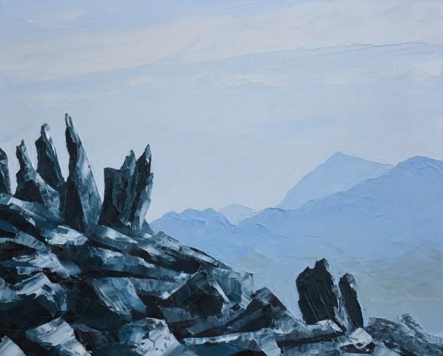 Gwyn Roberts, Yr Wyddfa o'r Glyderau / Snowdon from the Glyders