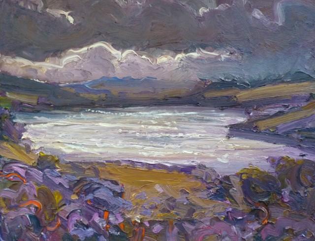 <span class=&#34;artist&#34;><strong>David Lloyd Griffith</strong></span>, <span class=&#34;title&#34;><em>Autumn Day on Llyn Brenig</em></span>