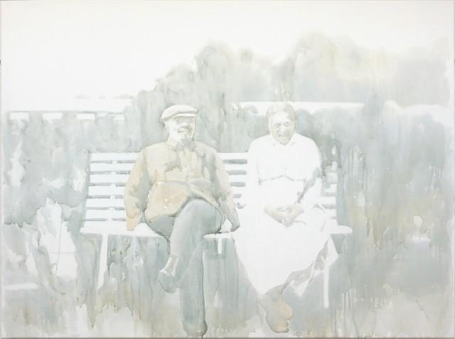 Tatiana Istomina, White Bench, 2011