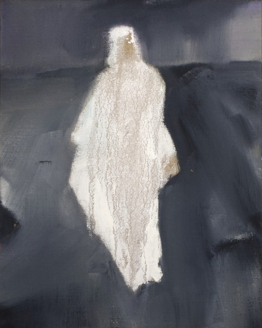 "Melora Griffis, ""loose garment,"" 2015, oil on linen, 14 x 11 in."