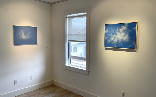 """still point: skyscapes by Berta Burr"" on view at 571 Projects"