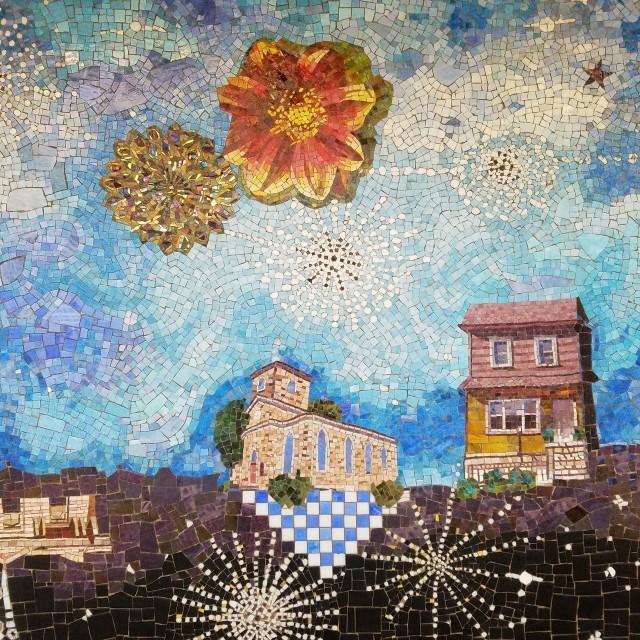 Sally Gil Edges of a South Brooklyn Sky (detail) 2018