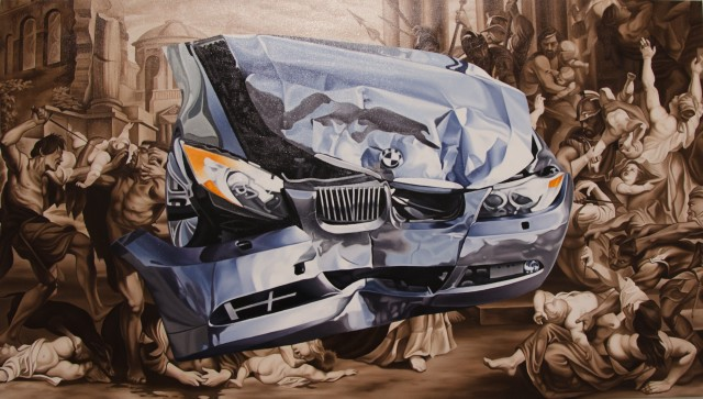 Jake Scharbach, Endemic, oil on canvas, 36 x 64 in, 2015