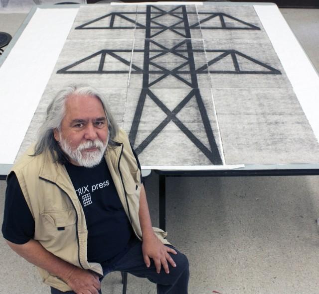 Joe Feddersen at Matrix Press, 2014